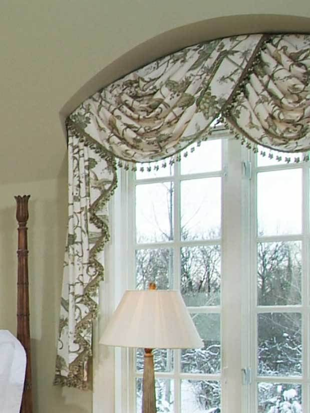 Arched Bedroom Swag Valance Curtains For Arched Windows Arched