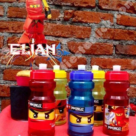 Ninjago vasos cilindros de colores