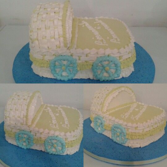 Torta coche decorada con merengue italiano