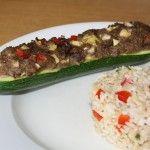 Courgettes  gevuld met kip en couscous