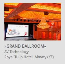 AV Technology for Event Location @ Royal Tulip Hotel Almaty (Kazakhstan) // www.kraftwerk.at