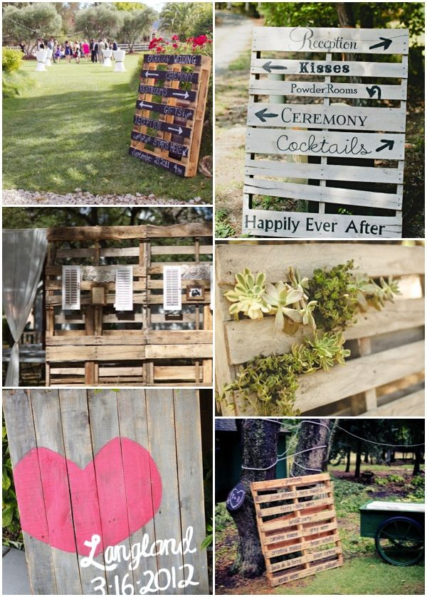 Eco-chic. Pallets at your wedding