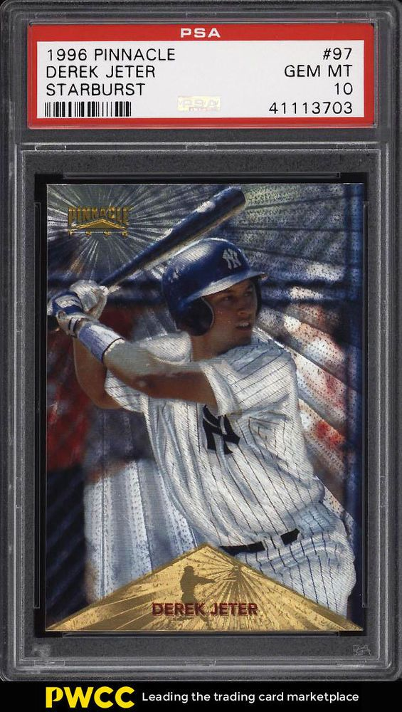 1996 Pinnacle Starburst Derek Jeter Rookie Rc 97 Psa 10 Gem