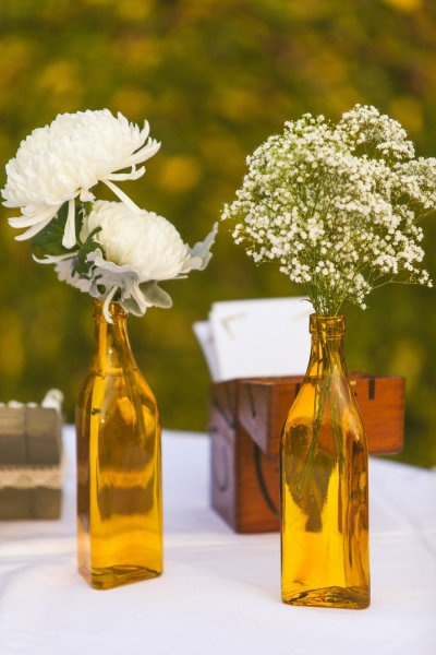 YELLOW centerpiece - Austin Wedding from Concept Photography + Pearl Events Austin