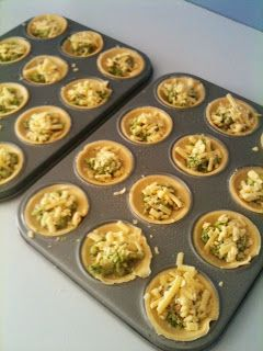 Three kids and the cook: Mini savoury quiche