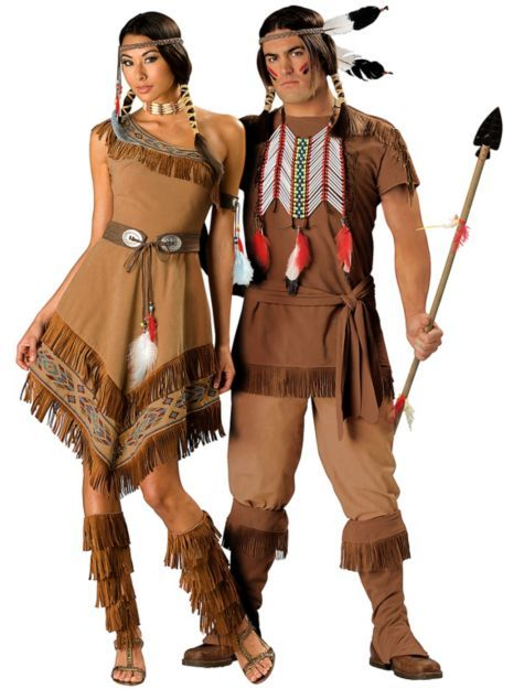 Elite Native American Maiden and Elite Native American Brave Couples Costumes http://videosdeterror.com.mx