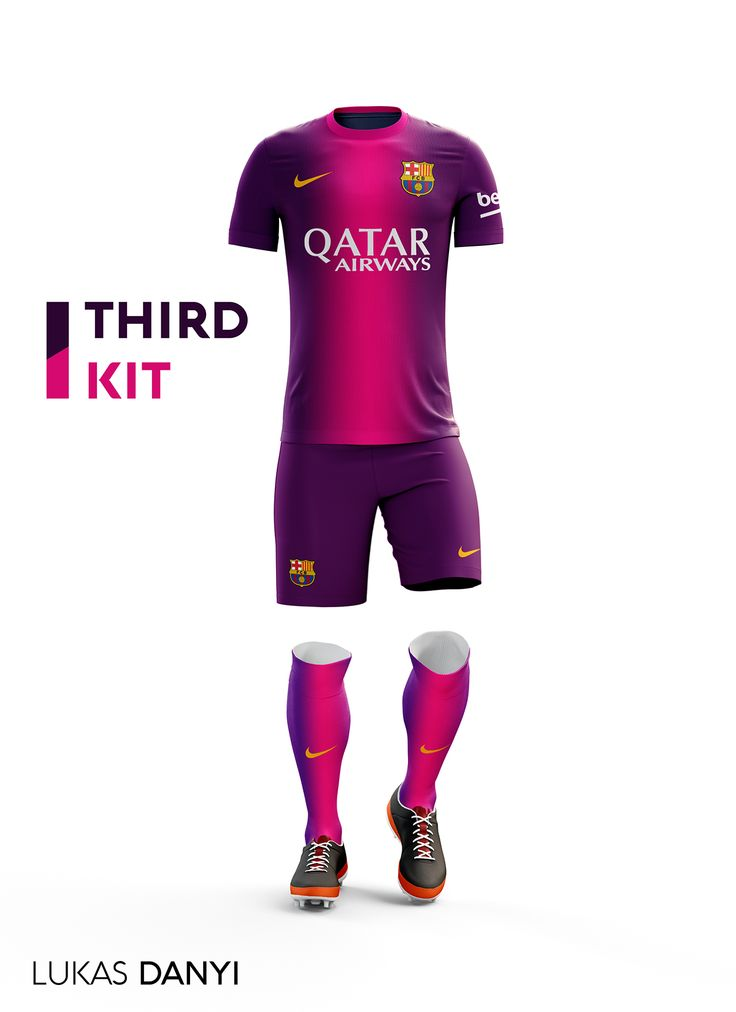 I designed football kits for Fc Barcelona for the upcoming season 16/17.