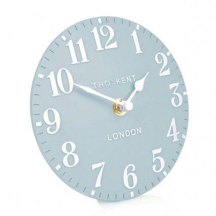 Thomas Kent Arabic Stonewash Blue Mantel Clock - 6 inch