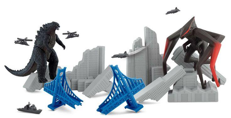 """Set de Juego Destruction City. Godzilla. Bandai Estupendo set de juego """"destruction City"""" para que los peques se lo pasen de miedo con este juguete de Godzilla, el terrible monstruo aparecido de las profundidades marinas."""