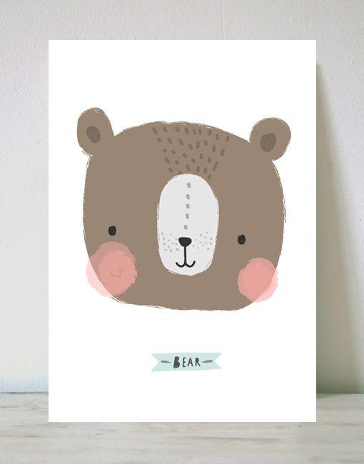 dibujo de un oso para niños