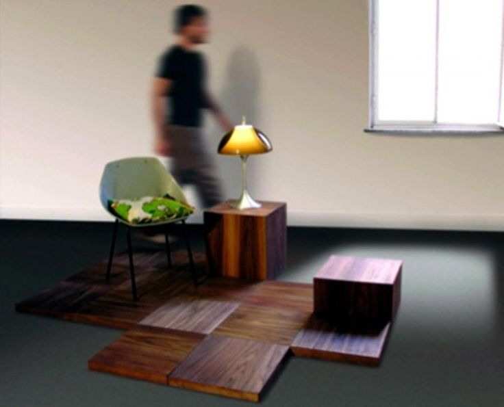 Outstanding Functional Furniture For Small Spaces With Entrancing Design:  Mesmerizing Furniture Modular Wood Flooring System Part 58