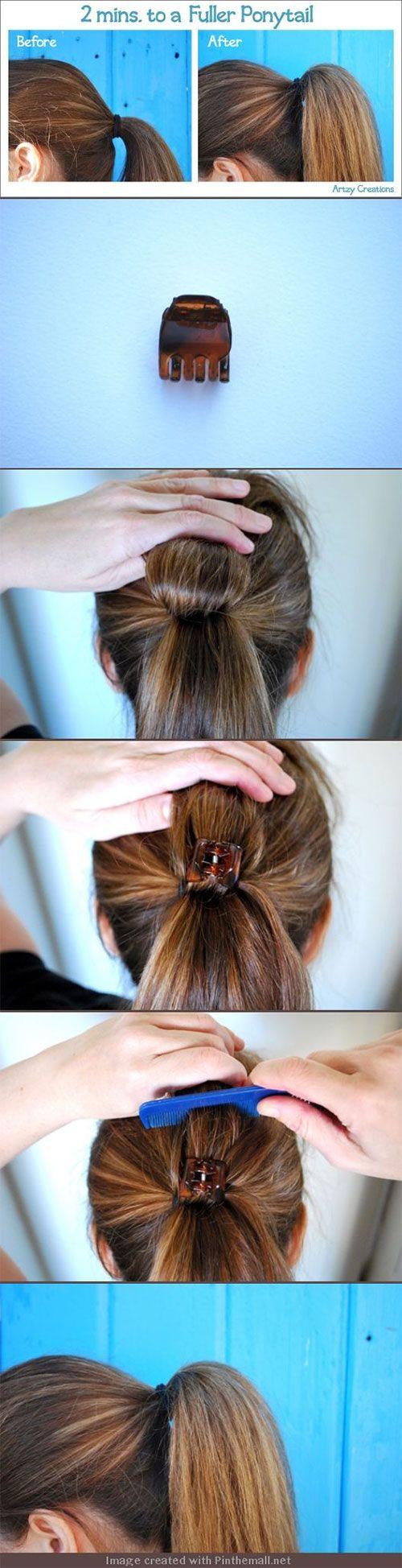 make-ponytail-bigger-more-volume-with-clip-hack