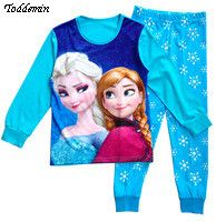 2016 Brand Cartoon Cotton elsa pajamas Kids Baby Girls Pajamas Set Spring Autumn Sleepwear Children pijama infantil #>=#>=#>=#>=#> Click on the pin to check out discount price, color, size, shipping, etc. Save and like it!