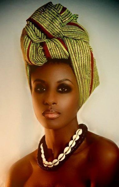 Head wrap - love this style!                                                                                                                                                                                 More