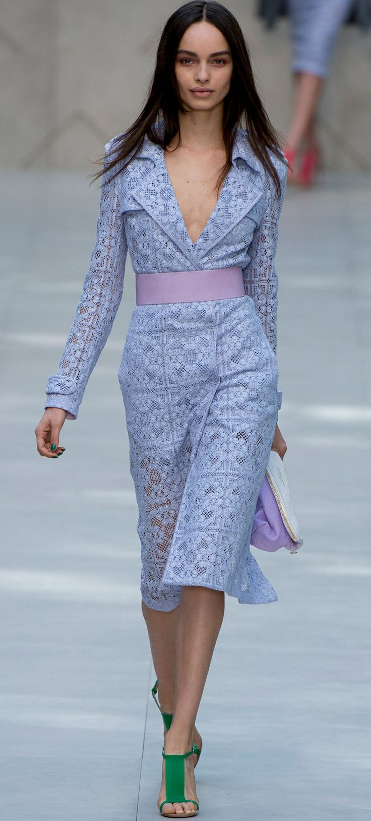 Burberry Prosum 2014. Shirtdress is trending this year.