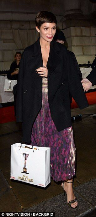 Beauties Frankie Bridge, Ola Jordan and Helen Flanagan commanded attention on the carpet in equally glittery ensembles, as they arrived at The Banqueting Hall in London.