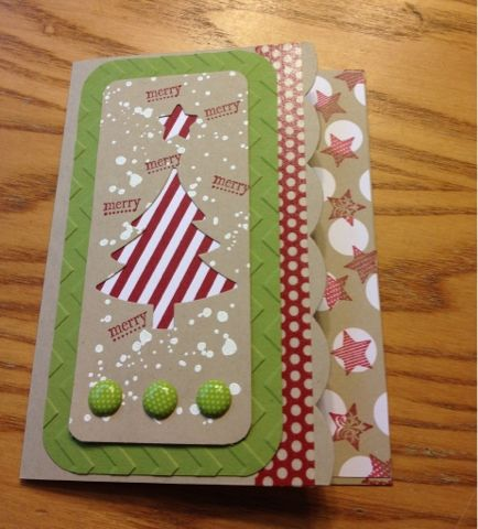 3 Monkeys throwing around some....PAPER!!!: Stampin' Up Edgelits - Making a Christmas Card with the Magnetic Platform!
