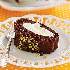 Chocolate-Cannoli Roll   MyRecipes.com