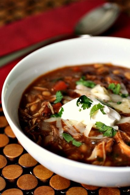 Jerk Chicken Chili - Rich, warm, and luxurious. The cinnamon brings flavors of the Middle East and North Africa and infused with heat from the jalapenos and chili powder, you've got an incredible chili that makes you want to hop on a cruise ship and head towards the Caribbean.