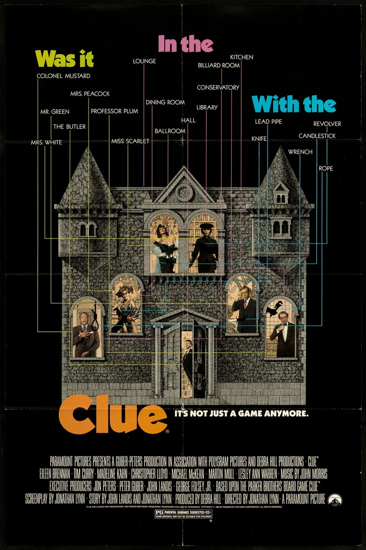 Clue!  Did you know that during the theatrical release, different theaters showed different endings?