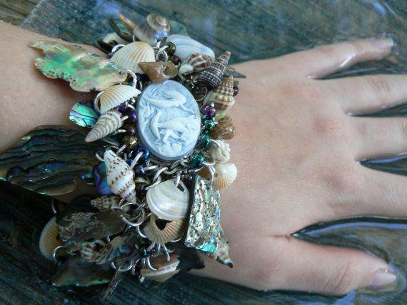 resort wear abalone bracelet seashells mermaid by gildedingypsy, $78.00  Man, I don't think I'd just wear this at a resort.