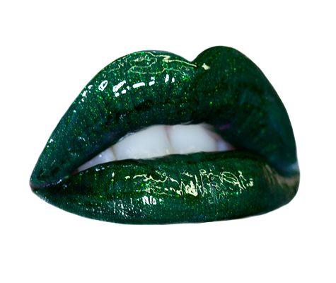 hollygram-lipswatch: Questo è Hollygram, un gloss verde con dei brillantini dorati, moooolto particolare!