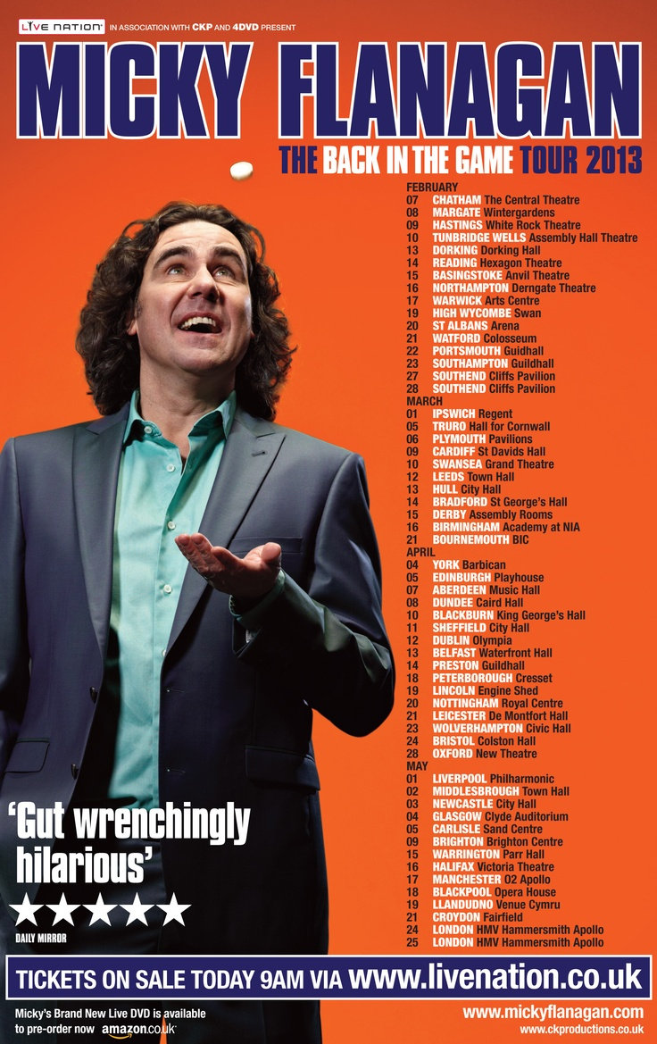 Back In The Game Tour Micky Flanagan