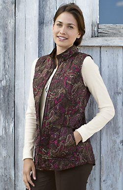 heritage quilted paisley vest…. this will be on MY Santa List this year!