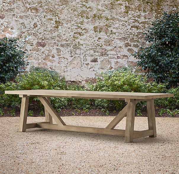 Restoration hardware 39 s 10 39 provence beam table furniture for Restoration hardware outdoor dining
