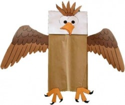 Paper Bag Bald Eagle for President's Day
