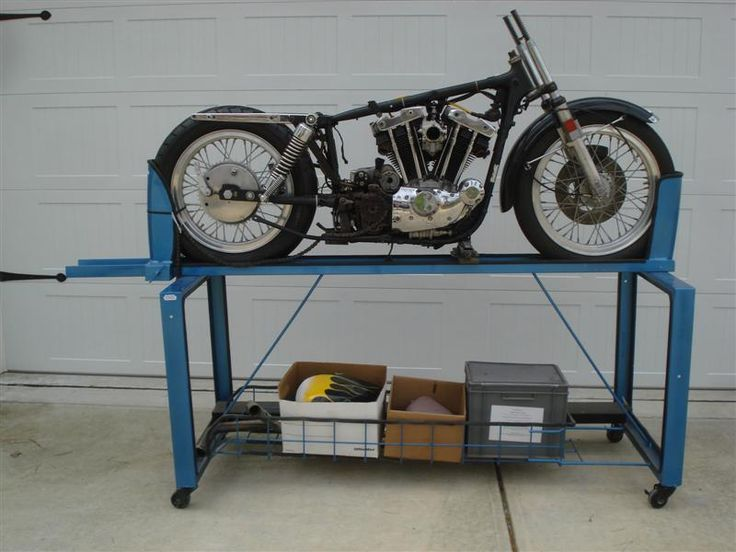 Vintage motorcycle lift table google search motorcycle for Montage des stands