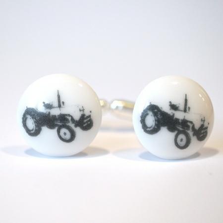 Mansjettknapper med traktor