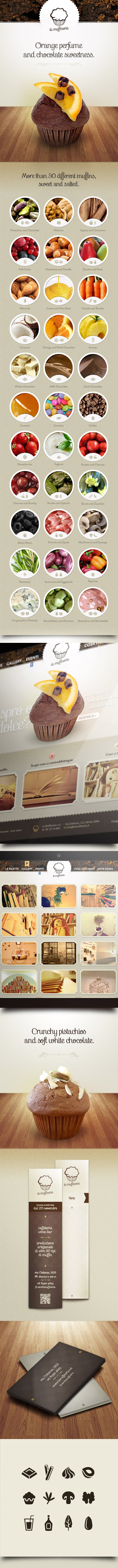 La Muffineria by Alessandro Suraci, via Behance #webdesign #branding #inspiration #muffin