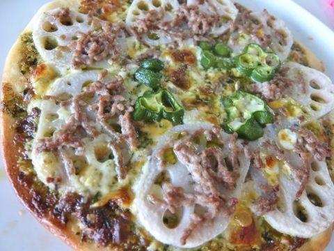レンコンのピザ バジリコソース バジルペースト コストコ