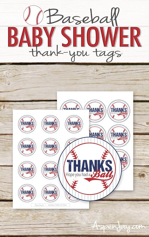 Baby Shower Birthday Party INSTANT DOWNLOAD Baseball Favor Tags