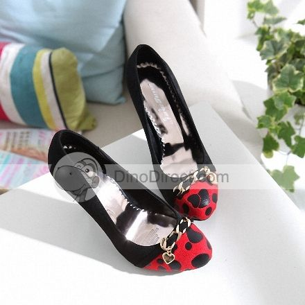 Round Toe Leopard Womens High Heel Shoes