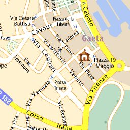 Carte détaillée Gaète - plan Gaète - ViaMichelin