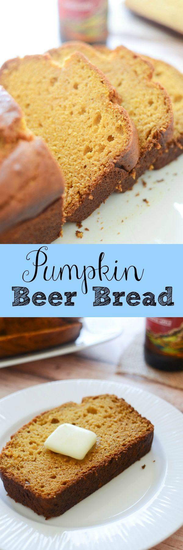 Pumpkin Beer Bread - the BEST pumpkin bread recipe! Serve this for Thanksgiving!