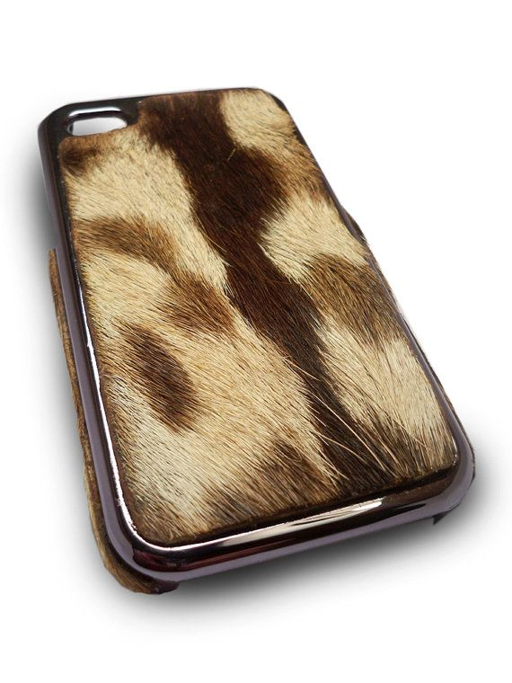 cowhide phone cover - insane, you can actually feel it.