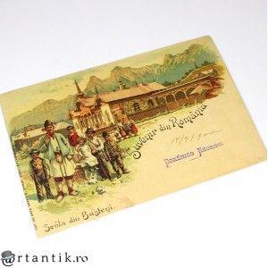 carte postala - anul 1900 - Busteni - Suvenir din Romania - necirculata