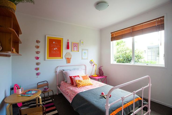 #kidsbedroom #kidsStyling @endemicworld #artprints #gregstraight #Theartroom #bedspread #kipandco #pinkbed frame #styling by #places&graces