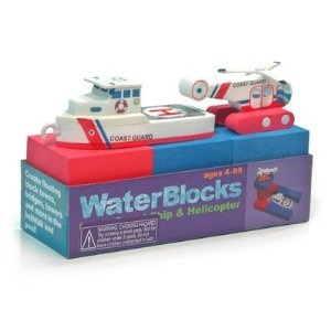 Coast guard boat and helicopter bath toy