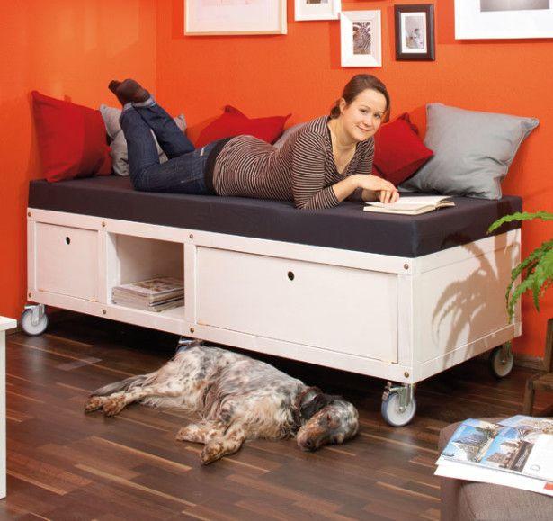 Oltre 25 fantastiche idee su costruire un letto su pinterest telaio di letto fai da te e letti - Costruire letto contenitore ...