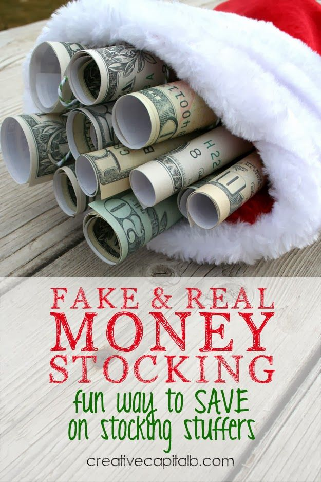 Save On Stocking Stuffers With Money Fun Unique Stocking