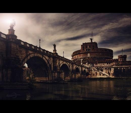 Rom, Castel San'Angelo (Engelsburg) und Ponte Sant'Angelo (Engelsbrücke)