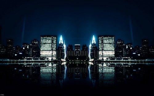 night lights as a desktop background
