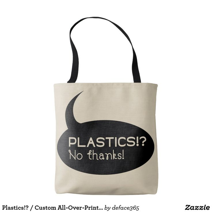 Plastics!? / Custom All-Over-Print Tote Bag