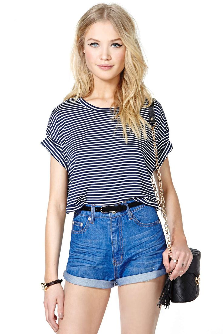 Sail Away Crop Tee | Shop What's New at Nasty Gal