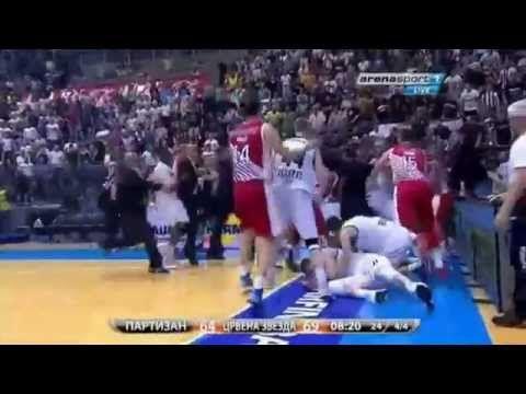 Opsta tuca igraca Partizana i Zvezde (KK Partizan - KK Crvena Zvezda) 14.06.2014