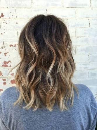 Image result for medium brown hair balayage